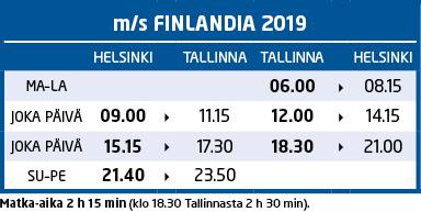 m/s Finlandia aikataulu 2019